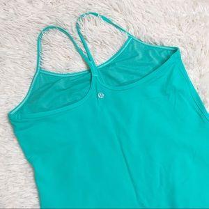 Lululemon teal tank athletic top shirt